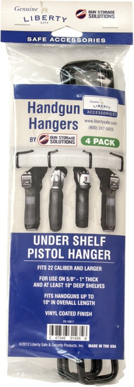 Handgun Hangers Under Shelf Package
